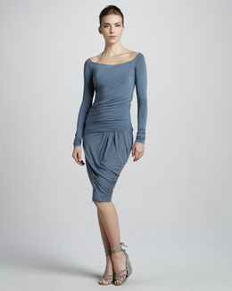 Donna Karan Draped Drop-Waist Dress, Tempest