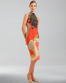 Akris Garden-Print Double-Faced Sleeveless Dress