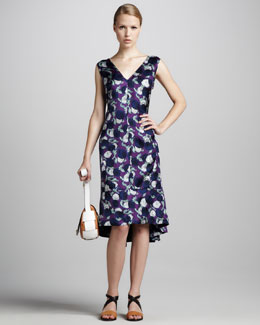 Marni Floral Flounce Dress
