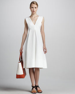 Marni Sleeveless V-Neck Cady Dress