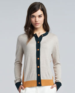 THE ROW Gina Colorblock Cardigan