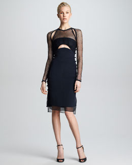 Emilio Pucci Cutout Illusion Dress