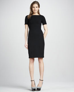 Burberry London Button-Detail Short-Sleeve Dress