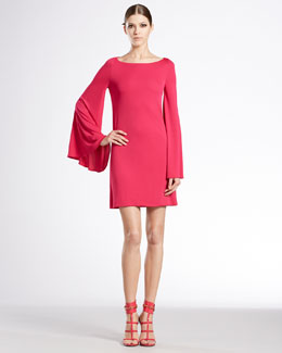 Gucci Long-Sleeve Boat-Neck Dress
