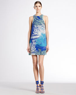 Gucci Dahlia Printed Silk Georgette Tunic Dress