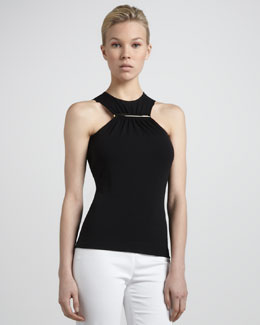 Michael Kors  Bar-Detail Halter Top