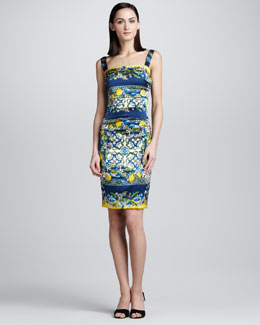 Dolce & Gabbana Lemon and Tile-Print Tank Dress