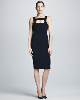 Michael Kors  Fitted Cutout Dress