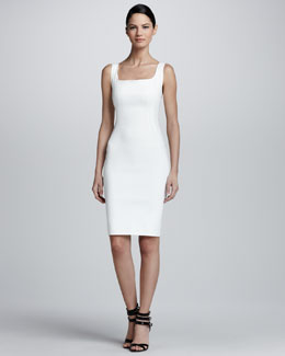 Lanvin Sleeveless Square-Neck Sheath Dress
