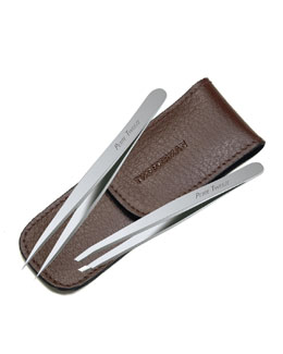 Tweezerman Petite Tweeze Set, Brown