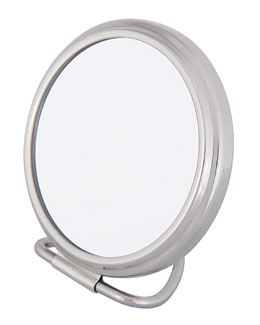 Frasco Mirrors Stand Fold Purse Chrome Double-Side Mirror