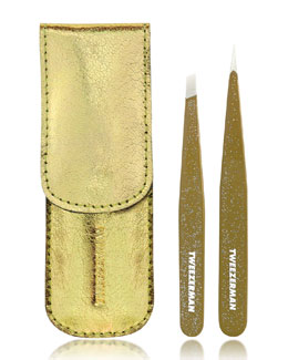 Tweezerman Gold Glitter Tweezer Set