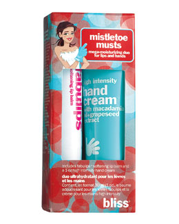 Bliss MistleToe Musts Lip & Hand Gift Set