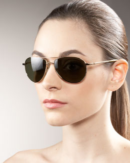 Oliver Peoples Benedict Basic Aviators