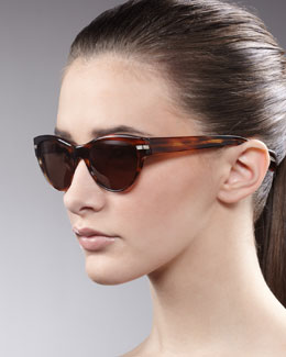 Oliver Peoples Kosslyn Cat-Eye Sunglasses, Morel