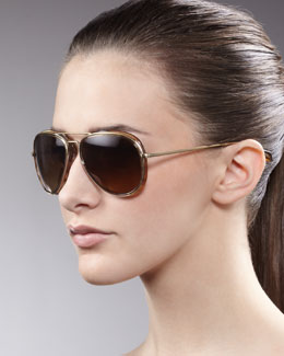 Oliver Peoples Rayford Aviator Sunglasses