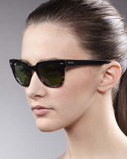 Ray-Ban Icons Wayfarer Sunglasses, Black/Yellow