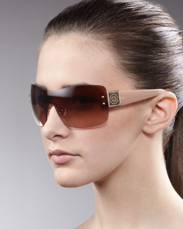 Tory Burch Shield Sunglasses, Linen