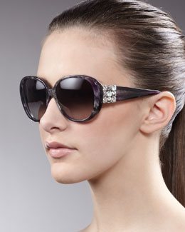 David Yurman Chiclet Sunglasses, Ametrine