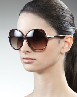Tom Ford Islay Sunglasses, Dark Havana