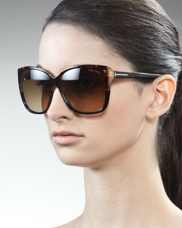 Tom Ford Lydia Sunglasses, Havana