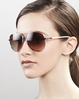 MARC by Marc Jacobs Aviator Sunglasses, Golden