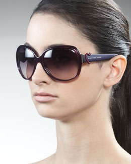 MARC by Marc Jacobs Large Heart Sunglasses, Violet