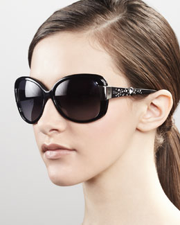 Dior Midnight Crystal Sunglasses, Black