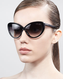 Tom Ford Madison Oversized Cat-Eye Sunglasses