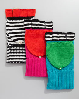 kate spade new york big apple pop-top mittens