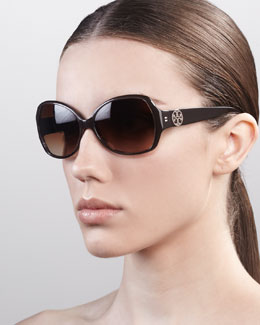 Tory Burch Large Butterfly Sunglasses