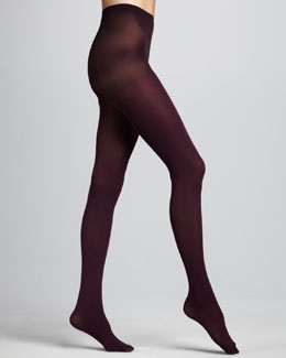 Hue Super Opaque Tights, Deep Burgundy