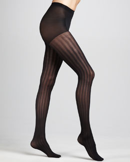 Hue Triple-Rib Tights, Black