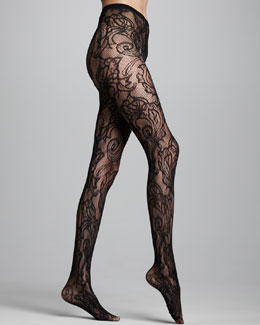Hue Lace Tights, Black