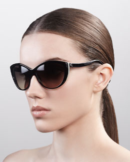 Alexander McQueen Classic Cat-Eye Sunglasses
