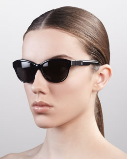 Givenchy Cat Eye Sunglasses, Shiny Black