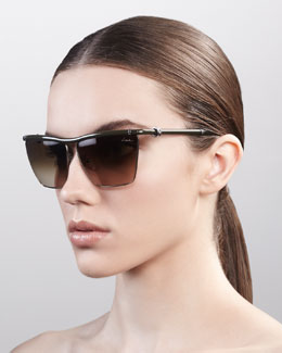 Lanvin Crystallized Metal Sunglasses