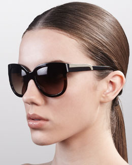 Stella McCartney Rounded Plastic Sunglasses