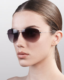 Oliver Peoples Strummer Classic Aviator Sunglasses