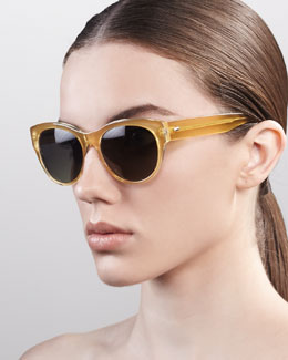 Oliver Peoples Mande Retro Sunglasses