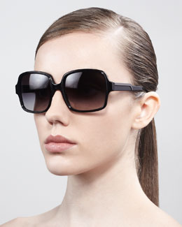 Stella McCartney Square Sunglasses, Black