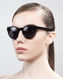Oliver Peoples Alivia Cat-Eye Sunglasses, Black