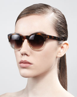 Oliver Peoples Alivia Cat-Eye Sunglasses, Brown/Clear