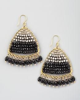 Nakamol Colorblock Crystal Chandelier Earrings