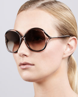 Tom Ford Rhi Open-Temple Oversized Sunglasses