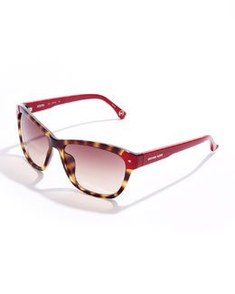 Michael Kors Zoe Color-Detail Sunglasses