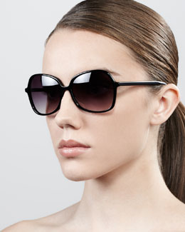 Barton Perreira Shrimpton Semi-Square Sunglasses, Black