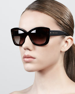 Marc Jacobs Thick-Rim Cat-Eye Sunglasses, Havana
