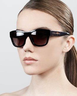 MARC by Marc Jacobs Wide-Temple Square Plastic Sunglasses