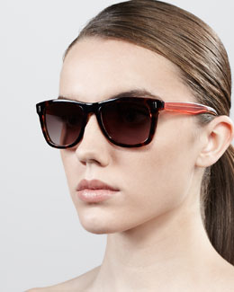 MARC by Marc Jacobs Retro Rectangle Sunglasses, Havana